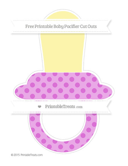 Free Orchid Polka Dot Extra Large Baby Pacifier Cut Outs