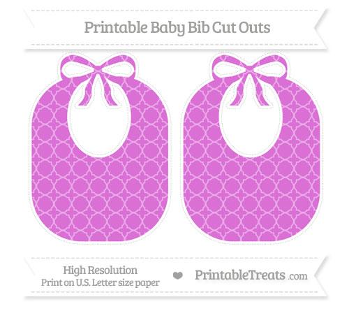 Free Orchid Quatrefoil Pattern Large Baby Bib Cut Outs