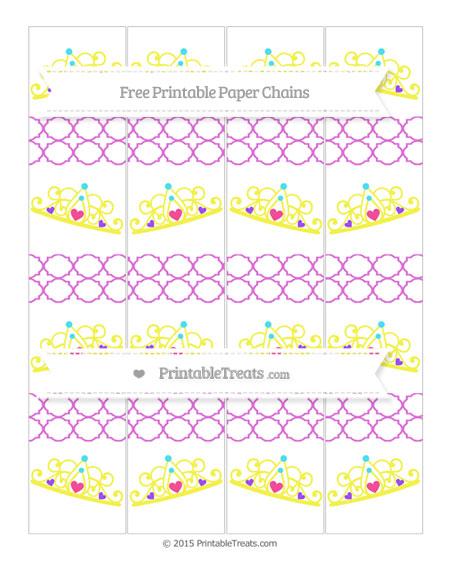 Free Orchid Quatrefoil Pattern Princess Tiara Paper Chains
