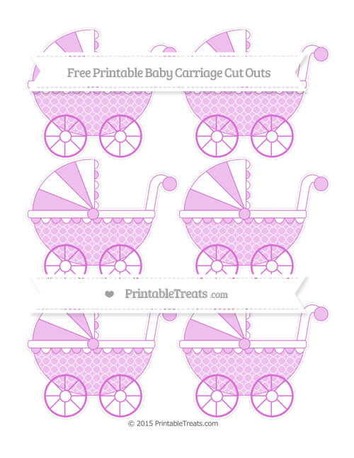 Free Orchid Quatrefoil Pattern Small Baby Carriage Cut Outs