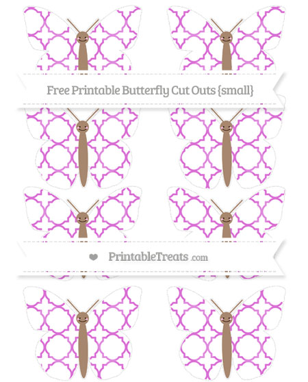 Free Orchid Quatrefoil Pattern Small Smiley Butterfly Cut Outs