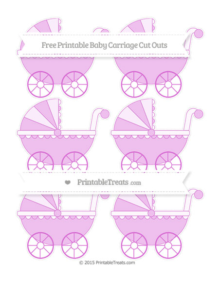 Free Orchid Small Baby Carriage Cut Outs