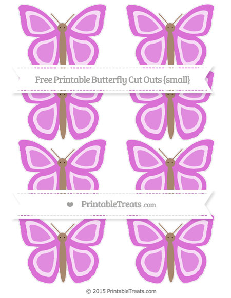 Free Orchid Small Butterfly Cut Outs