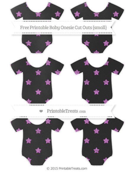 Free Orchid Star Pattern Chalk Style Small Baby Onesie Cut Outs
