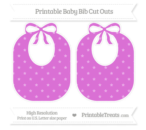 Free Orchid Star Pattern Large Baby Bib Cut Outs