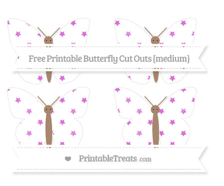Free Orchid Star Pattern Medium Butterfly Cut Outs