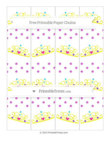Free Orchid Star Pattern Princess Tiara Paper Chains
