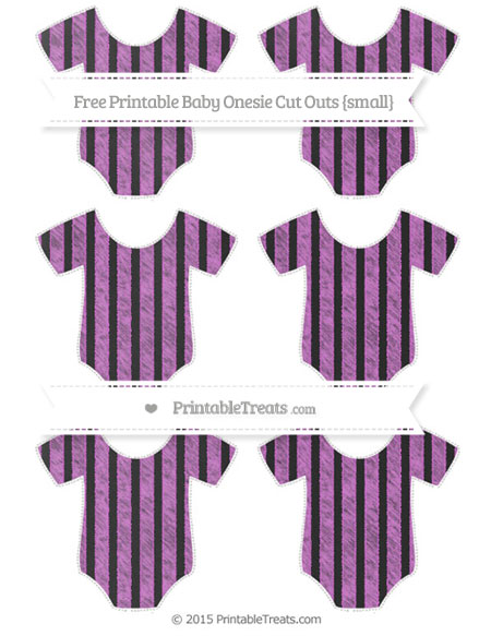 Free Orchid Striped Chalk Style Small Baby Onesie Cut Outs