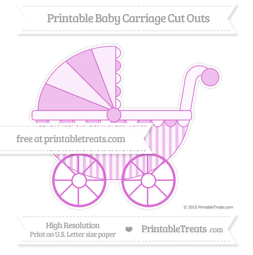 Free Orchid Striped Extra Large Baby Carriage Cut Outs