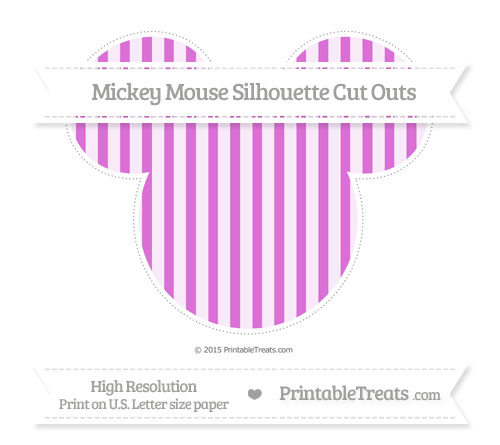 Free Orchid Striped Extra Large Mickey Mouse Silhouette Cut Outs