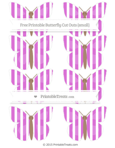Free Orchid Striped Small Butterfly Cut Outs