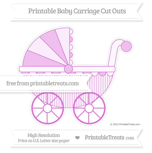 Free Orchid Thin Striped Pattern Extra Large Baby Carriage Cut Outs