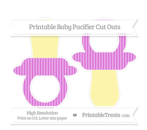 Free Orchid Thin Striped Pattern Large Baby Pacifier Cut Outs