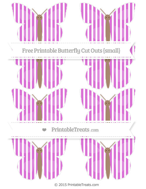Free Orchid Thin Striped Pattern Small Butterfly Cut Outs