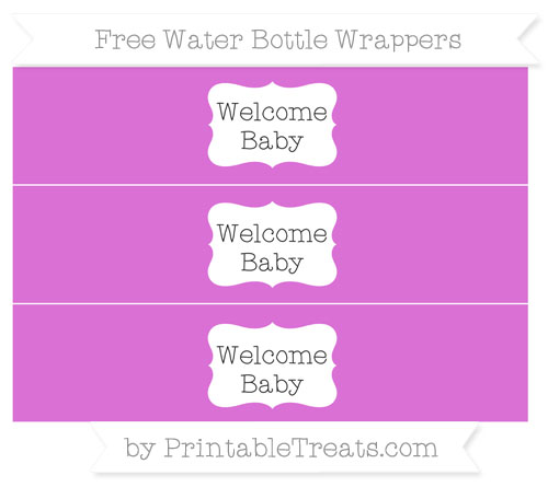 Free Orchid Welcome Baby Water Bottle Wrappers