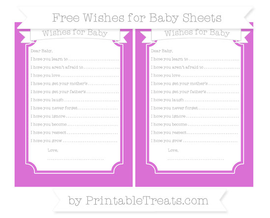 Free Orchid Wishes for Baby Sheets