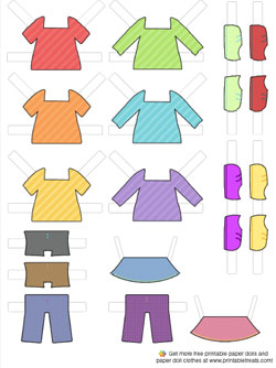 Free Paper Doll Clothes