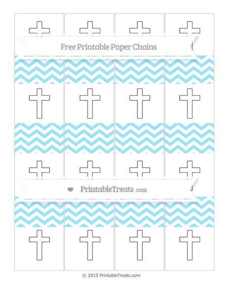 Free Pastel Aqua Blue Chevron Cross Paper Chains