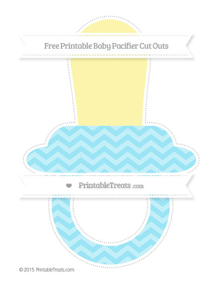 Free Pastel Aqua Blue Chevron Extra Large Baby Pacifier Cut Outs