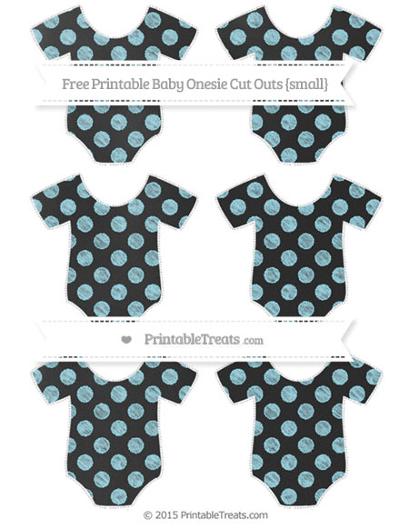 Free Pastel Aqua Blue Dotted Pattern Chalk Style Small Baby Onesie Cut Outs