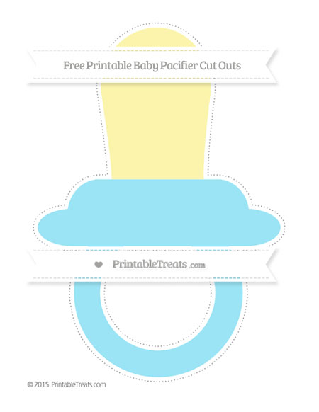 Free Pastel Aqua Blue Extra Large Baby Pacifier Cut Outs