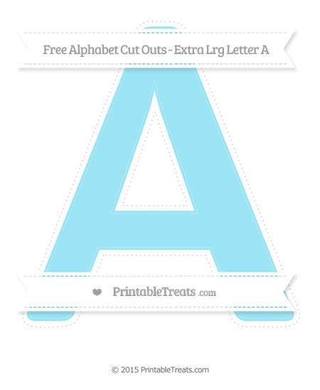 Free Pastel Aqua Blue Extra Large Capital Letter A Cut Outs
