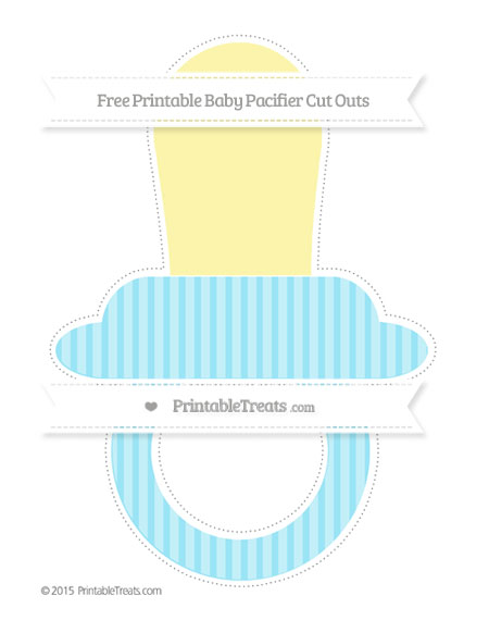 Free Pastel Aqua Blue Thin Striped Pattern Extra Large Baby Pacifier Cut Outs