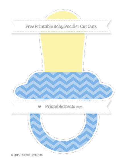 Free Pastel Blue Chevron Extra Large Baby Pacifier Cut Outs
