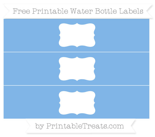 Free Pastel Blue Water Bottle Labels