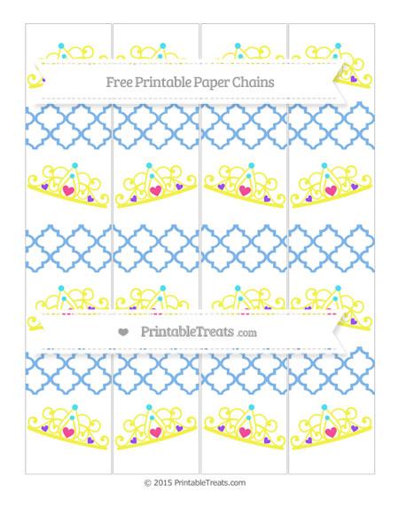 Free Pastel Blue Moroccan Tile Princess Tiara Paper Chains