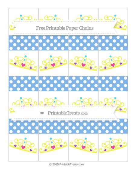 Free Pastel Blue Polka Dot Princess Tiara Paper Chains