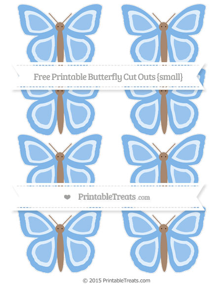 Free Pastel Blue Small Butterfly Cut Outs