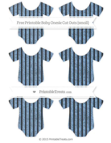 Free Pastel Blue Thin Striped Pattern Chalk Style Small Baby Onesie Cut Outs