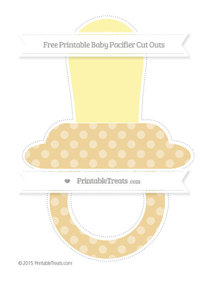 Free Pastel Bright Orange Dotted Pattern Extra Large Baby Pacifier Cut Outs