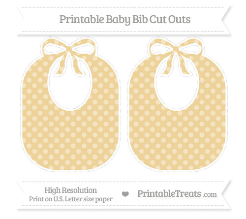 Free Pastel Bright Orange Dotted Pattern Large Baby Bib Cut Outs