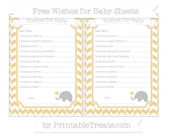 Free Pastel Bright Orange Herringbone Pattern Baby Elephant Wishes for Baby Sheets