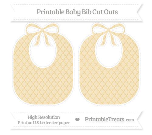 Free Pastel Bright Orange Moroccan Tile Large Baby Bib Cut Outs
