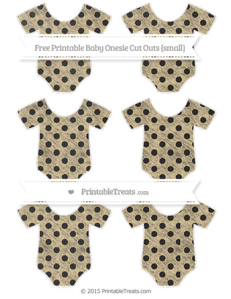 Free Pastel Bright Orange Polka Dot Chalk Style Small Baby Onesie Cut Outs