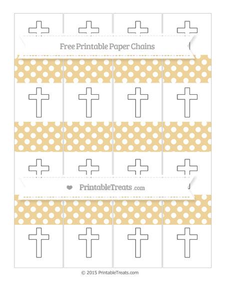 Free Pastel Bright Orange Polka Dot Cross Paper Chains