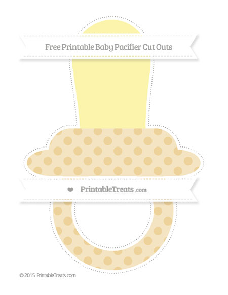 Free Pastel Bright Orange Polka Dot Extra Large Baby Pacifier Cut Outs