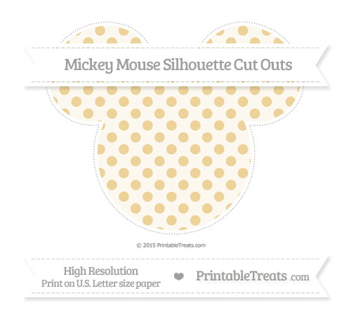 Free Pastel Bright Orange Polka Dot Extra Large Mickey Mouse Silhouette Cut Outs