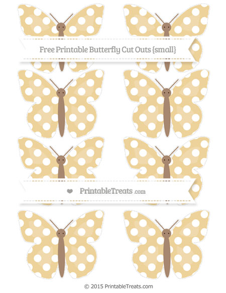 Free Pastel Bright Orange Polka Dot Small Butterfly Cut Outs