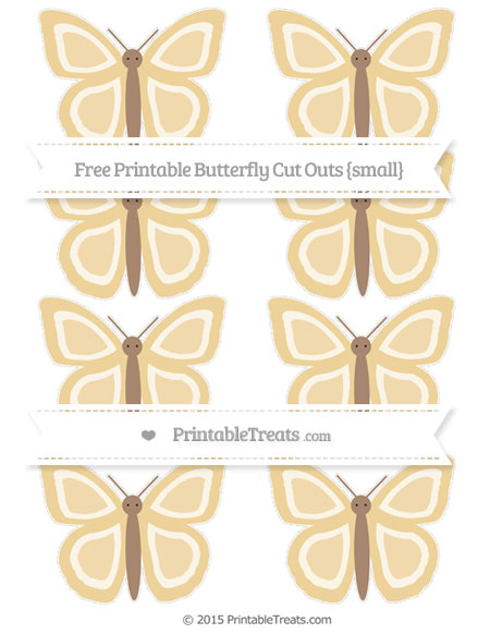 Free Pastel Bright Orange Small Butterfly Cut Outs