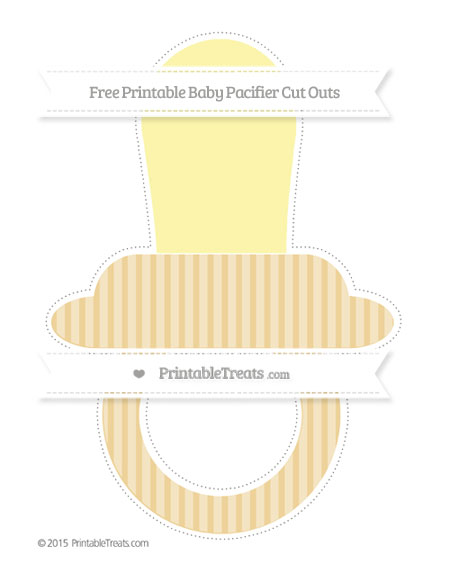 Free Pastel Bright Orange Thin Striped Pattern Extra Large Baby Pacifier Cut Outs