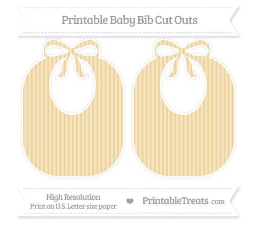 Free Pastel Bright Orange Thin Striped Pattern Large Baby Bib Cut Outs