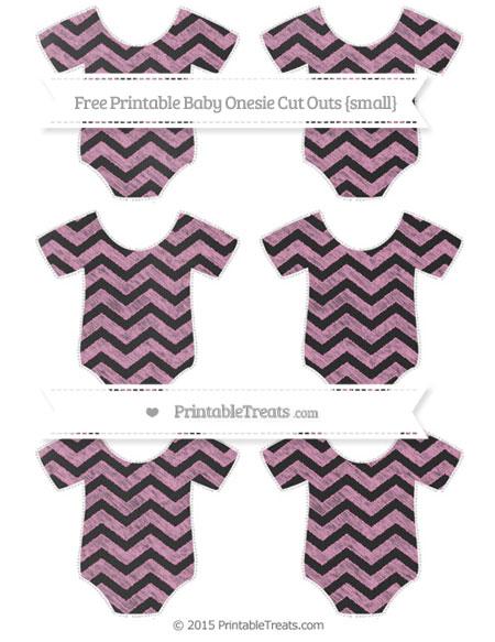 Free Pastel Bubblegum Pink Chevron Chalk Style Small Baby Onesie Cut Outs