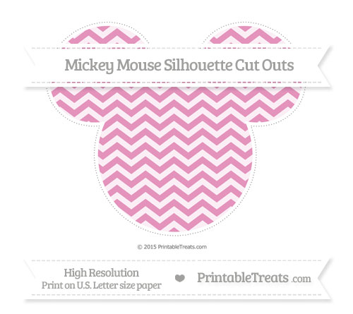 Free Pastel Bubblegum Pink Chevron Extra Large Mickey Mouse Silhouette Cut Outs
