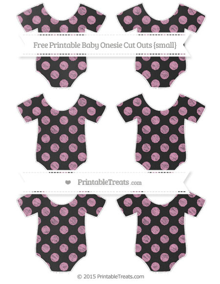 Free Pastel Bubblegum Pink Dotted Pattern Chalk Style Small Baby Onesie Cut Outs