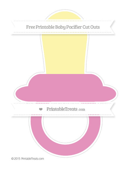 Free Pastel Bubblegum Pink Extra Large Baby Pacifier Cut Outs