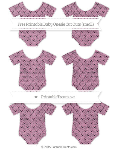 Free Pastel Bubblegum Pink Moroccan Tile Chalk Style Small Baby Onesie Cut Outs